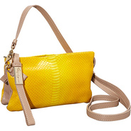 Cache Crossbody Embossed Yellow Snake - Foley + Co