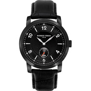Vintage IV Men's Watch - Leather Black - Giorgio F
