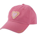 Girls Tattered Chill Cap Hot Pink-M/L - Life is go