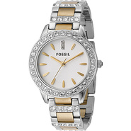 Fossil Ladies 3-Hand Stainless Steel Dual Toned Gl