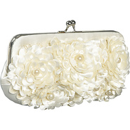 Floral With Pearl Center Frame Ivory - Jessica McC