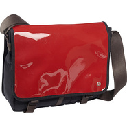 Metropolitan Enamel DJ Bag (M) Red - TOKEN Messeng