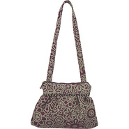 Addie Shoulder Bag Broderie Plum - Maruca Design F