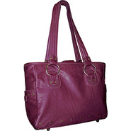 Edie Leather Tote Calypso Orchid - Brynn Capella L