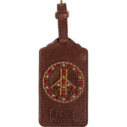 Sak Gifting Luggage Tag Teak w/Peace Sign - The Sa