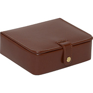 Leather Stud/Ring Box Brown - Budd Leather Busines
