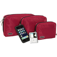 Padded Pouches - 3 pc Set - Raspberry