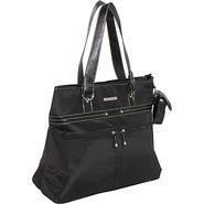 Microfiber Laptop Tote - Black