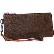 Cher Leather Wristlet Saddle Brown - Brynn Capella