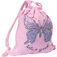 Kids Rope Cinch Sack Petal Pink - Life is good Sch