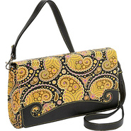 Paisley Convertible Cross Body Clutch - Cross Body