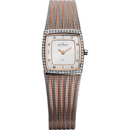 Two Tone Mesh Watch Silver with Rose Gold - Skagen