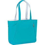 Shelby Tote - Tropic Teal, White