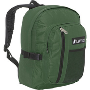 Backpack with Front Mesh Pocket - Green Black