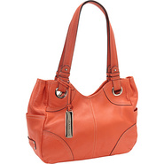 Pebble Item Shopper Papaya - Tignanello Leather Ha