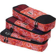 Slim Packing Cubes - 3pc Set Red Paisley - eBags P