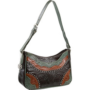 Calico Creek Collection Handbag Turquoise, Mocha a