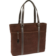 Suede Computer Tote - 15.4PC / 17 MacBook
