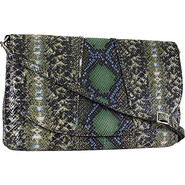 Regal Snake Jolene Shoulder Olive - Lodis Leather
