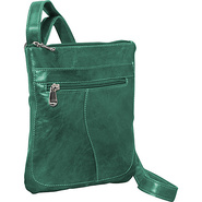 Florentine Slender Shoulder Bag Green - David King