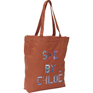 See By Tape Large Shopping Bag Sienna - SEE by Chl