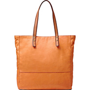 Zoey Tote Light Orange - Fossil Leather Handbags