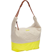 Meadow Shoulder Bag Acid Yellow - Roxy Fabric Hand