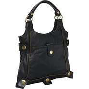 Large Leather Tote Black - AmeriLeather Leather Ha