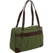 Ladies Laptop Weekender - Green Hexagon