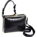 Cadeau Shoulder Bag Black Croco - Foley + Corinna 