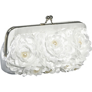 Floral With Pearl Center Frame White - Jessica McC