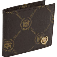 Cadillac Bi-Fold Wallet - Brown