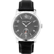 Vintage IV Men's Watch - Leather Black/Silver/Grey