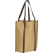 Eco-Chic Canvas Roll-Up Tote - Khaki Canvas