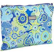 Large Zippered Carry All - Jazz Cobalt