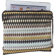 African Dots Tech Pouch Black neutral - Echo Lapto