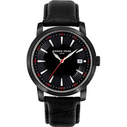 Vintage III Men's Watch - Leather Black/Black/Red
