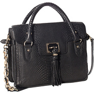 Cordoba Flap Tote Black Exotic - Elliott Lucca Lea