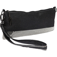 Matte Shine Convertible Clutch Black/Pewter - Whit