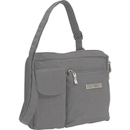 Wallet Bagg Large Crinkle Nylon - Pewter