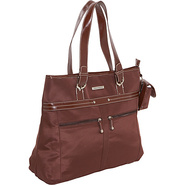 Microfiber Laptop Tote - Brown