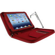 Executive Leather Case w/ Stylus for iPad Mini Red