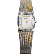 Two Tone Mesh Watch Silver with Gold - Skagen Watc