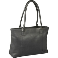 Women's Laptop Tote Black - Le Donne Leather Ladie