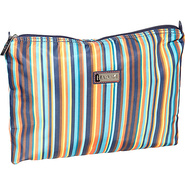 Large Zippered Carry All Arabesque Stripes - Hadak
