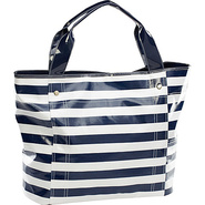 Wellie Travel Tote - Navy/White Stripe