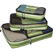 Packing Cubes - 3pc Set Green Stripe - eBags Packi