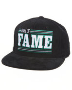 Hall Of Fame Men Bronco Corduroy Snapback Cap Blac
