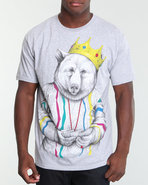 Men Biggie Bear V2 Tee Grey Small