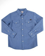 Boys Malibu Chambray Woven (8-20) Medium Wash 14/1